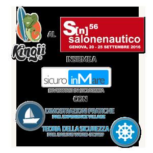 Kingii al Salone Nautico di Genova alla lounge di Sicuro inMare (Pad. Sailing World - W29) con MioID di SalusBank. Dimostrazioni pratiche e formazione.